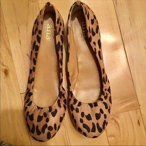 A.N.A. Leopard Joy Ballet Flats.